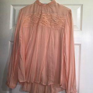 Light Pink Long Sleeve Blouse
